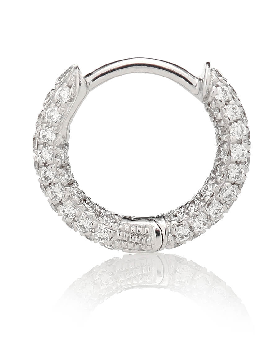 MARIA TASH 18kt white gold single earring with diamonds