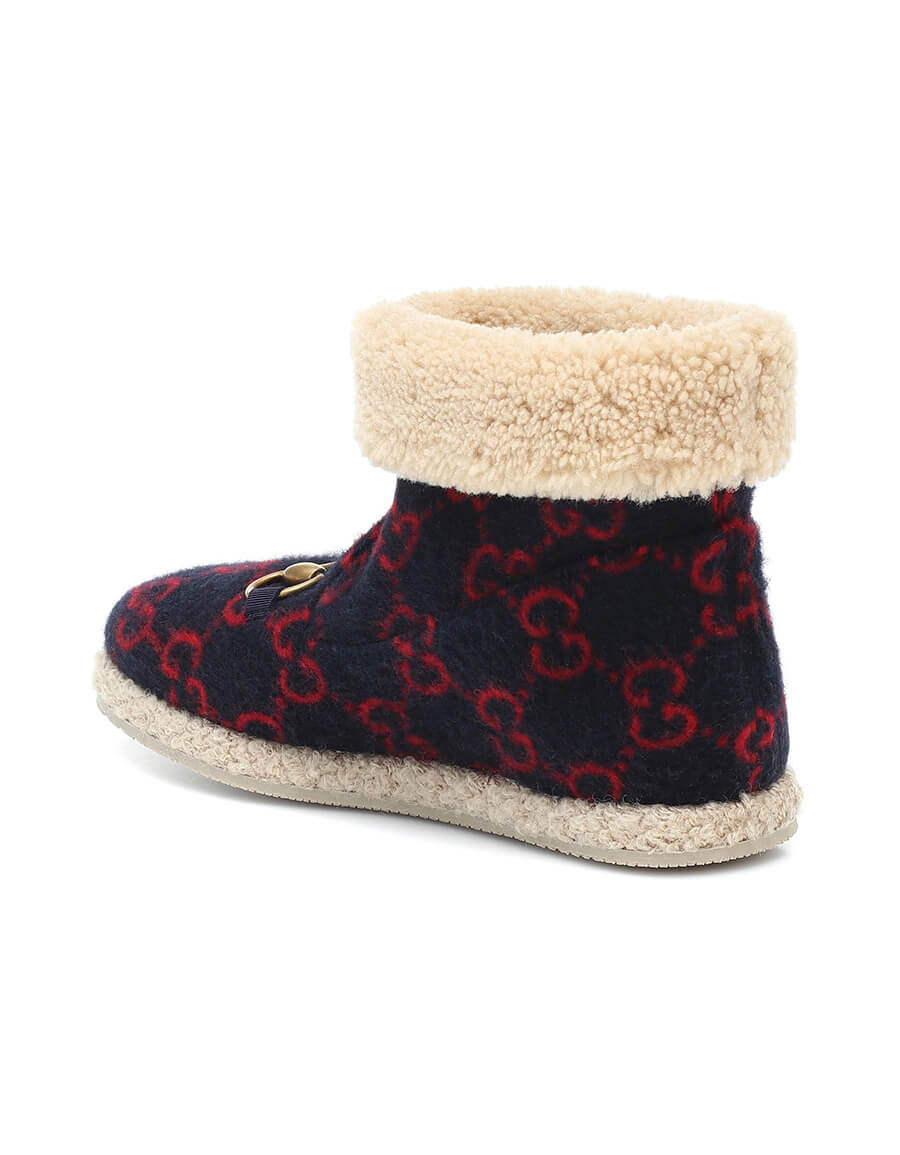 GUCCI GG wool ankle boots