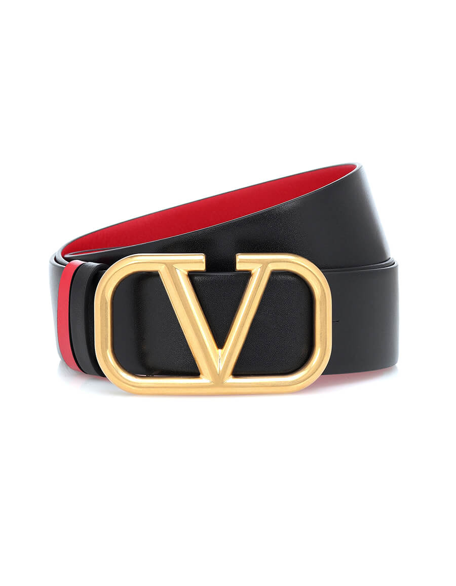 VALENTINO GARAVANI Valentino Garavani VLOGO reversible leather belt