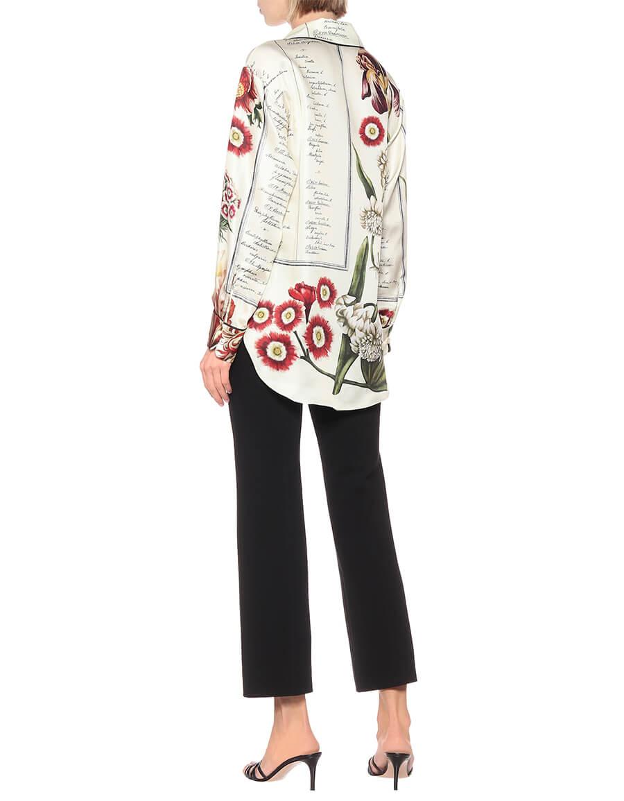 OSCAR DE LA RENTA Printed silk shirt