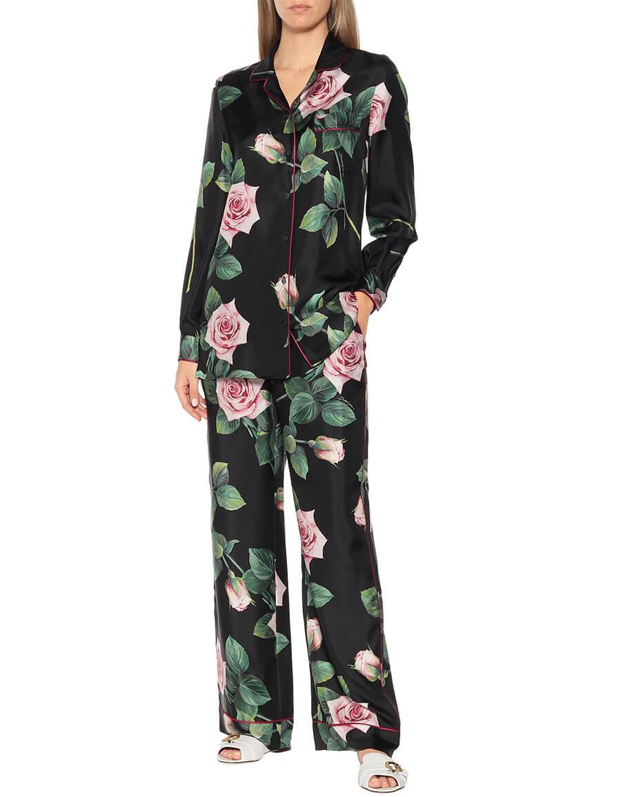 DOLCE & GABBANA Floral silk faille shirt