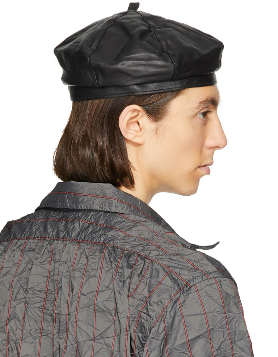 OUR LEGACY Black Leather Beret
