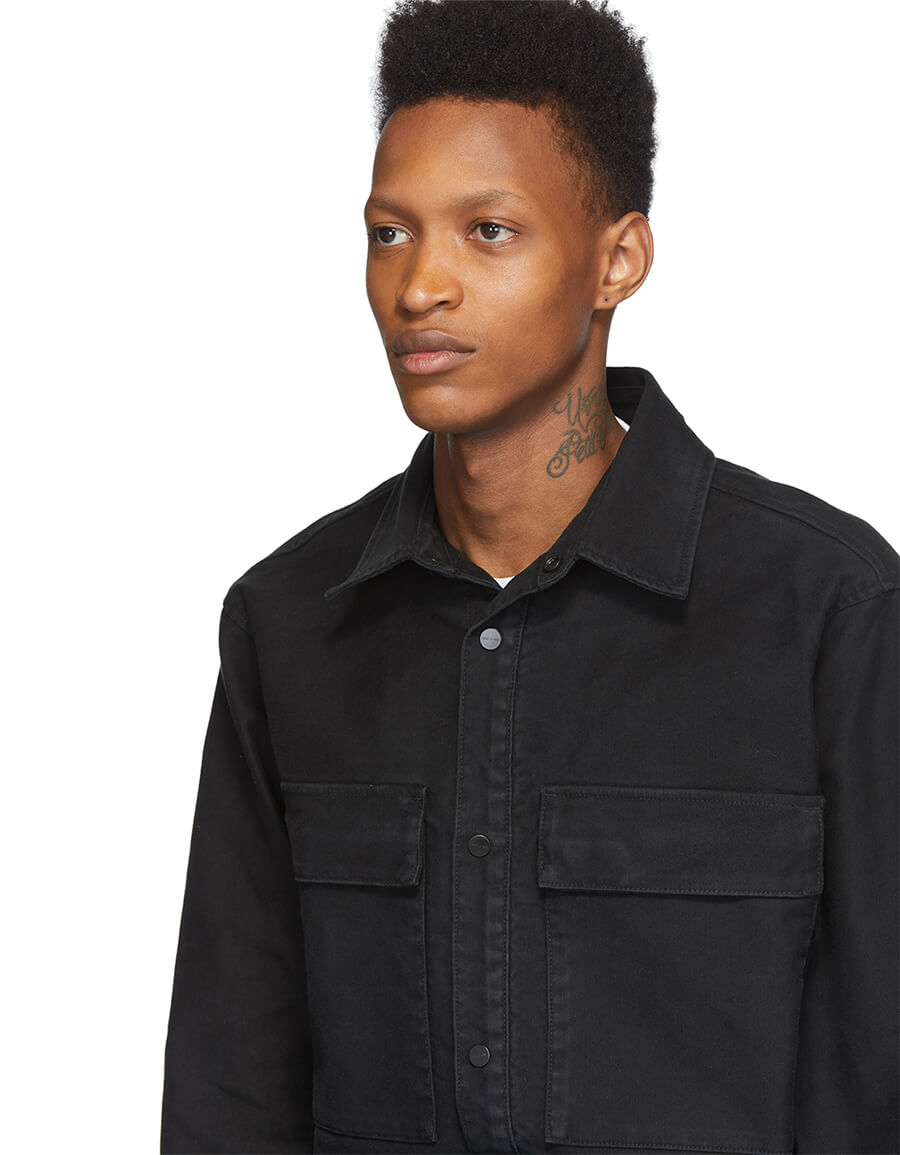FEAR OF GOD Black Canvas Shirt Jacket