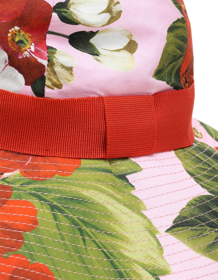 DOLCE & GABBANA Floral cotton wide brim hat