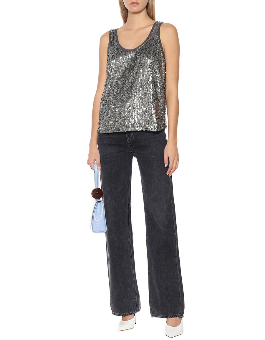 VELVET Leyla sequined top