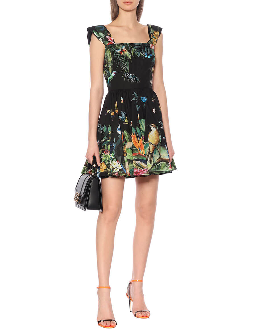 DOLCE & GABBANA Printed cotton minidress