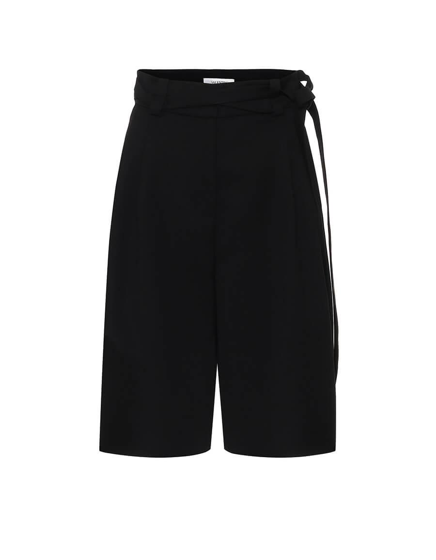 VALENTINO High rise virgin wool Bermuda shorts