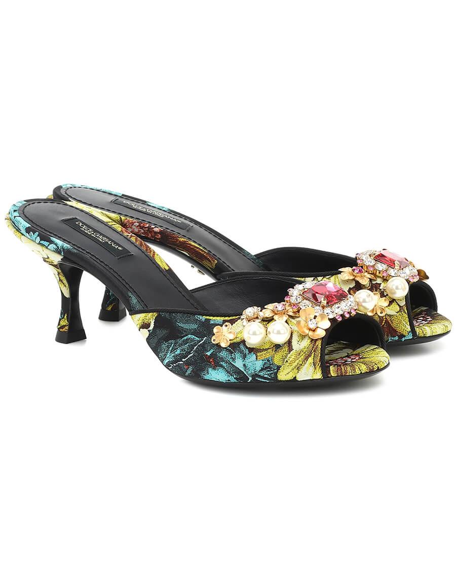 DOLCE & GABBANA Keira embellished floral sandals