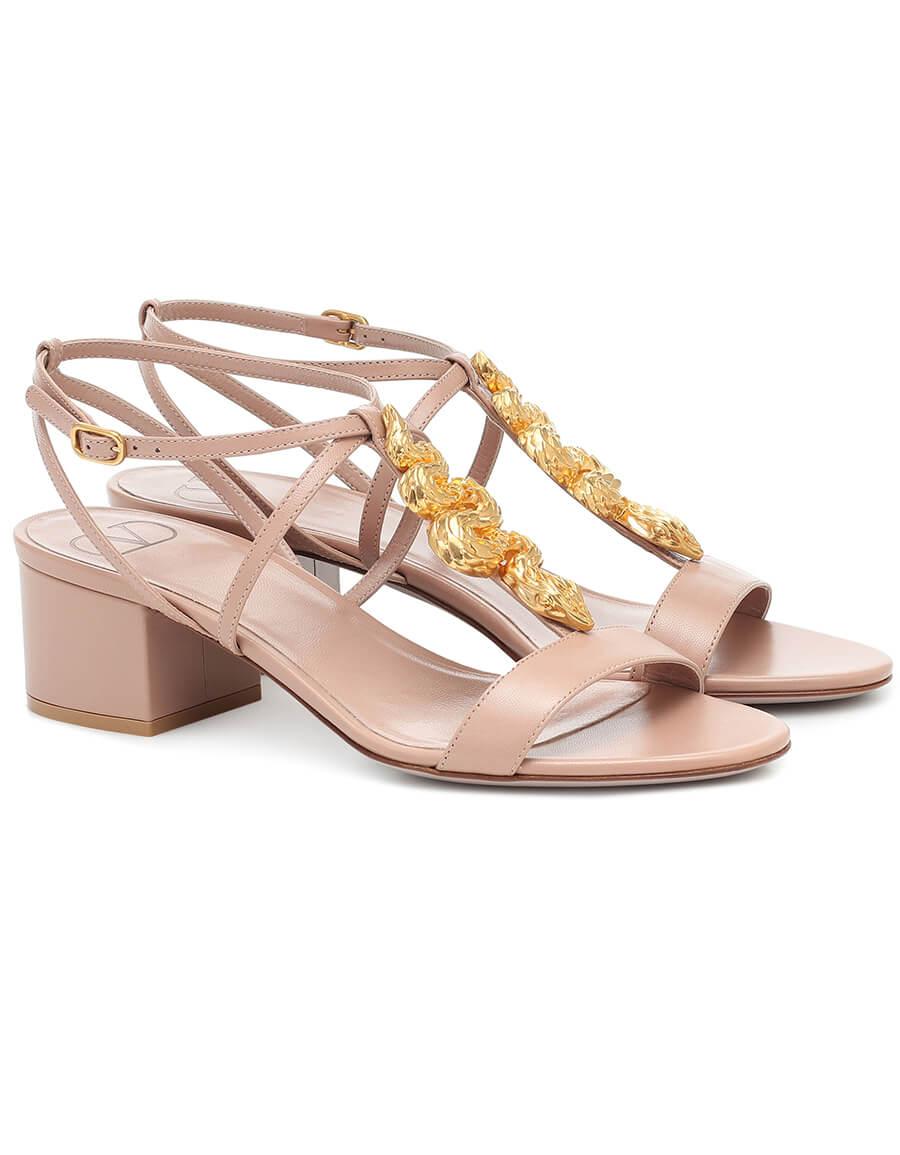 VALENTINO GARAVANI Valentino Garavani Maison Snake leather sandals