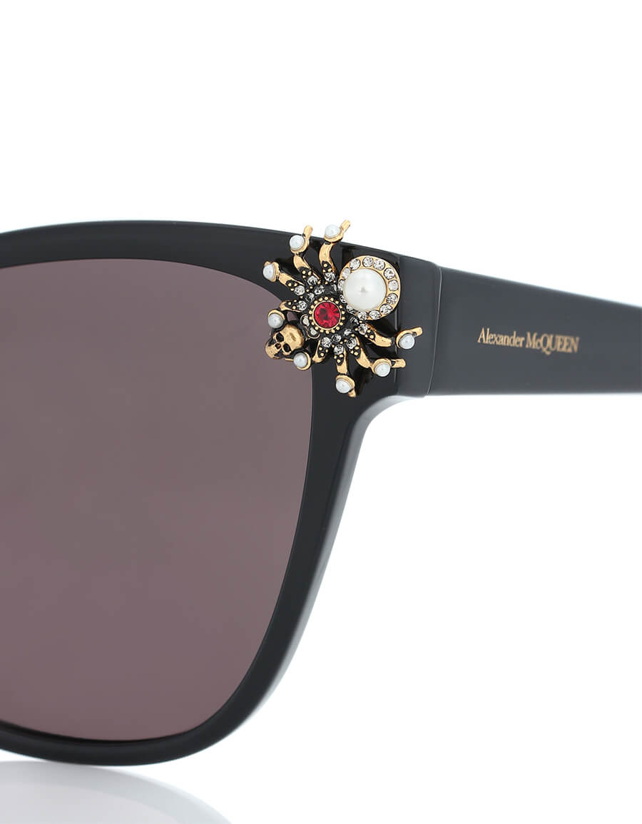 ALEXANDER MCQUEEN Spider embellished cat eye sunglasses