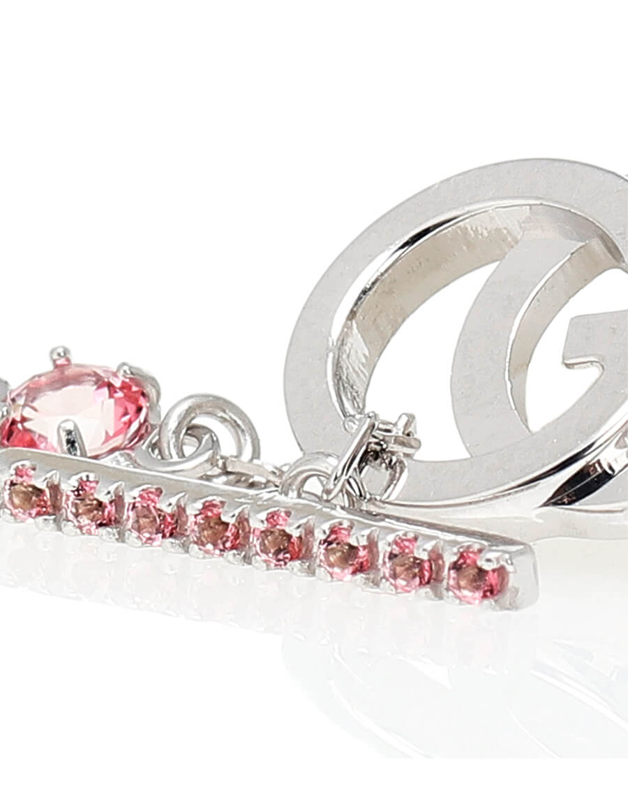 GUCCI GG white gold and topaz bracelet