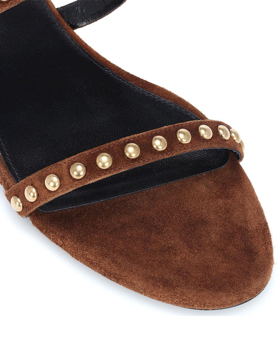 SAINT LAURENT Kiki embellished suede sandals