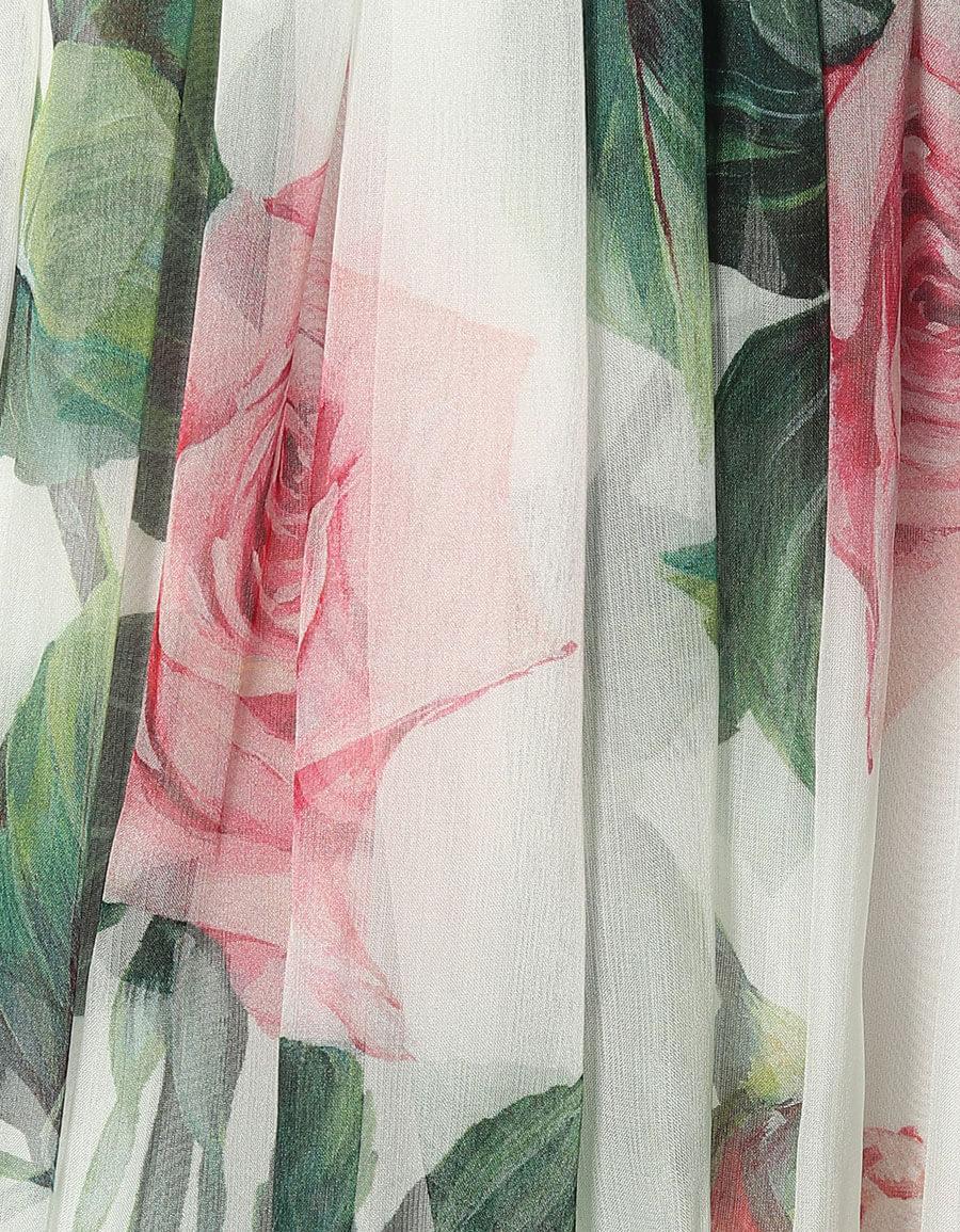 DOLCE & GABBANA Floral silk midi skirt