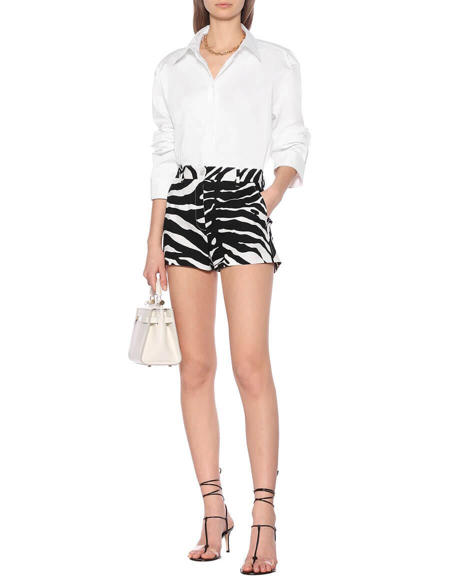 DOLCE & GABBANA Zebra print stretch cotton shorts
