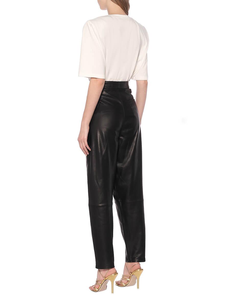 J BRAND Nila high rise leather cigarette pants