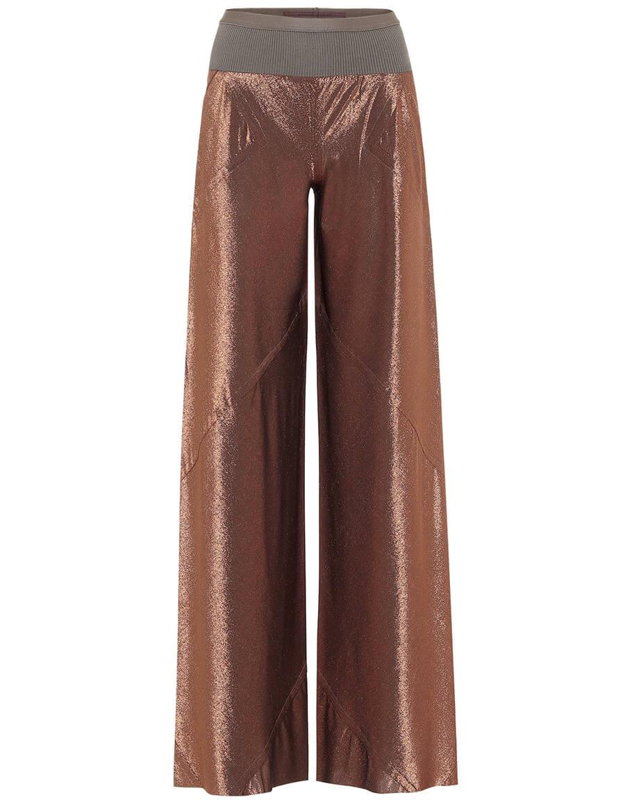 RICK OWENS Lilies metallic wide leg pants