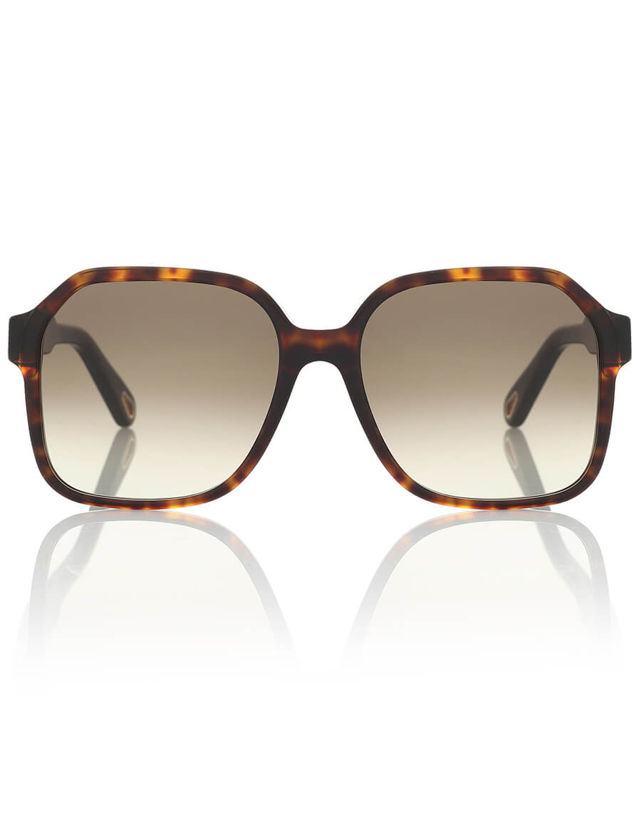 CHLOÉ Willow oversized square sunglasses
