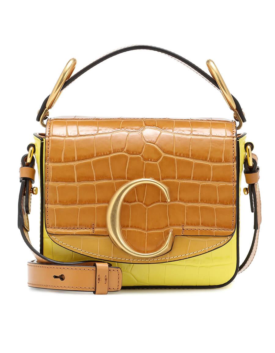 CHLOÉ Chloé C Mini leather shoulder bag