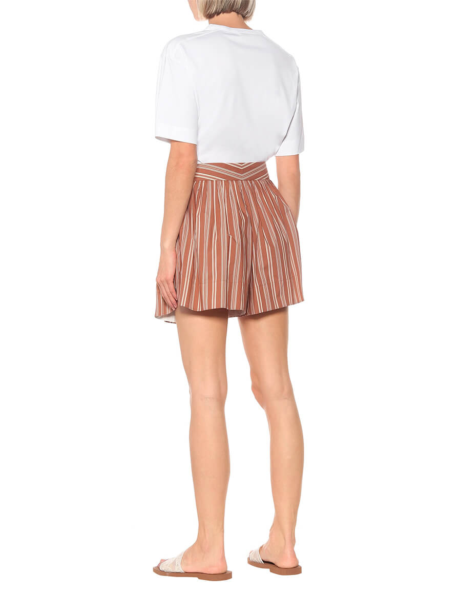 CHLOÉ Striped cotton shorts