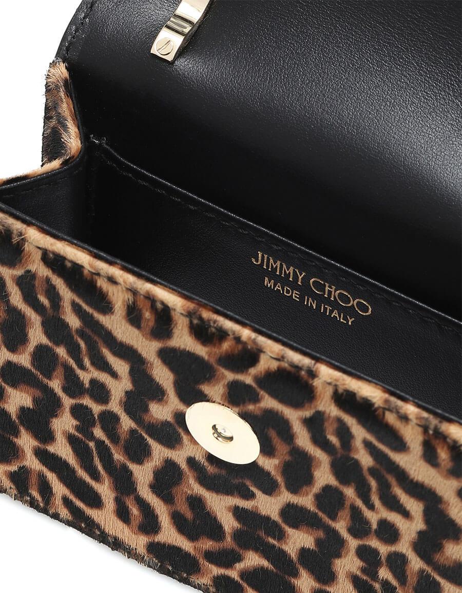 JIMMY CHOO Paris Mini calf hair clutch