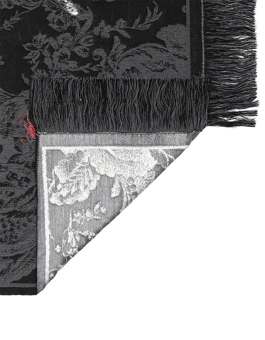 ALEXANDER MCQUEEN Queen of Hearts jacquard scarf