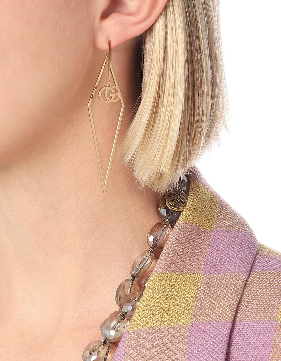 GUCCI GG Running 18kt gold single earring