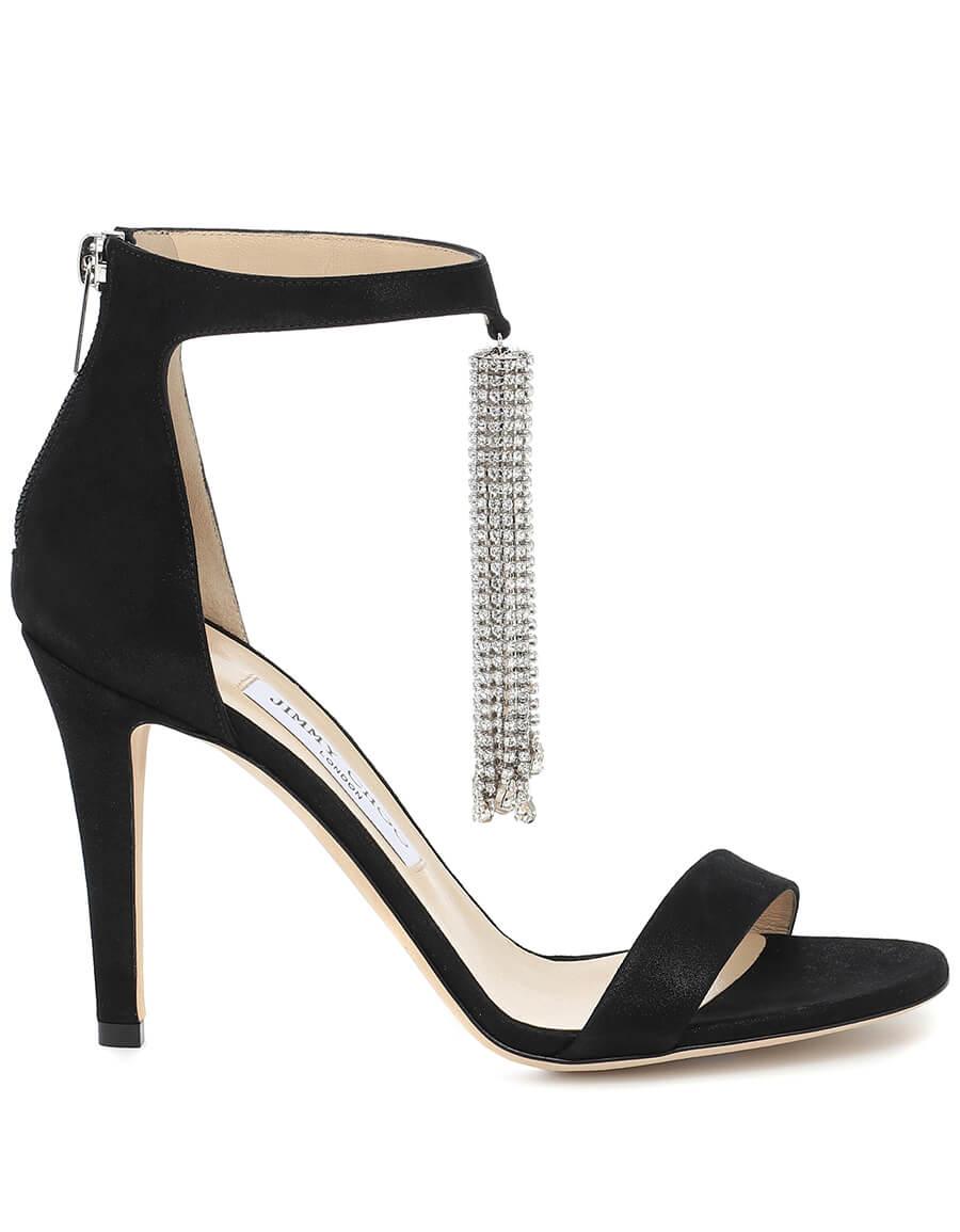 JIMMY CHOO Viola 100 embellished suede sandals