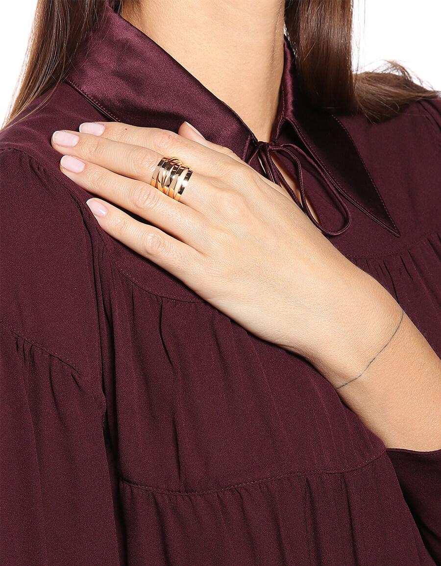 REPOSSI Berbere Technical 18kt rose gold ring