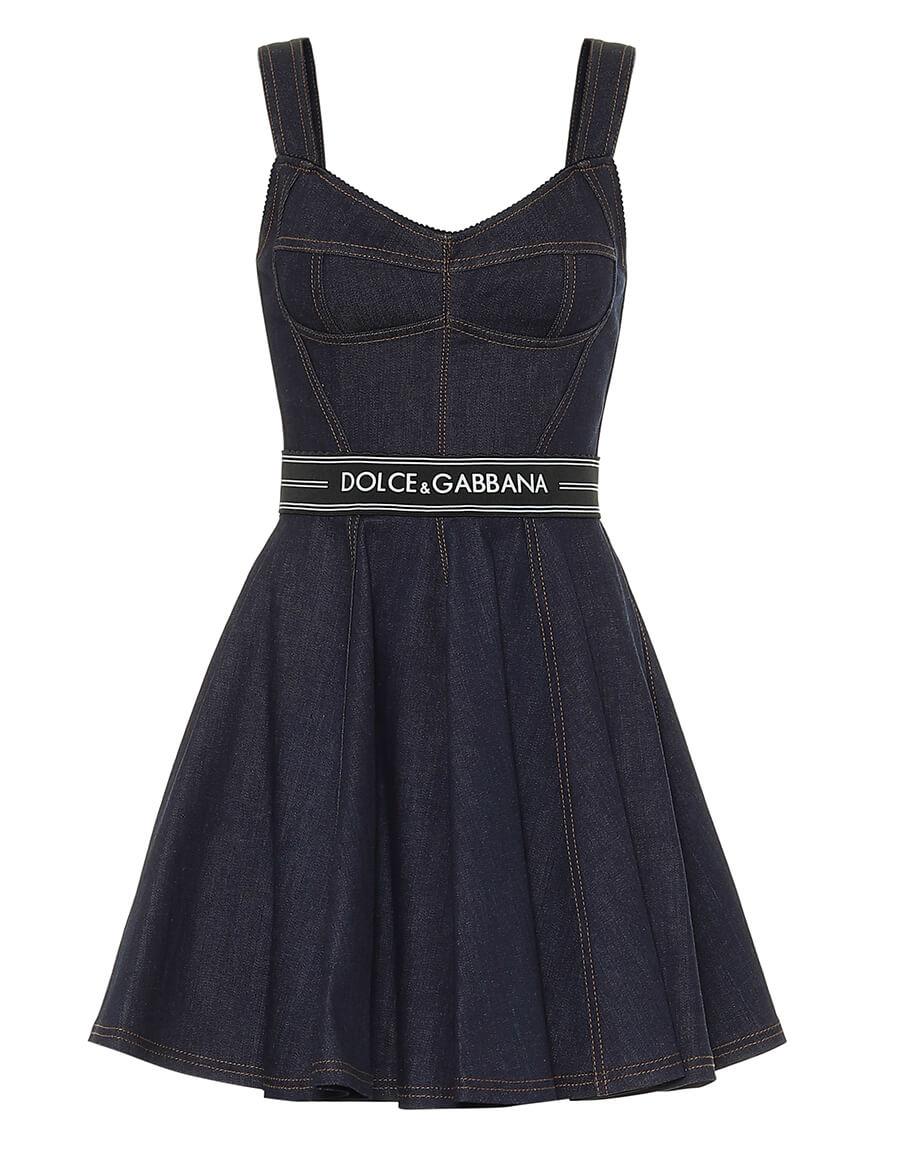 DOLCE & GABBANA Stretch denim mini dress