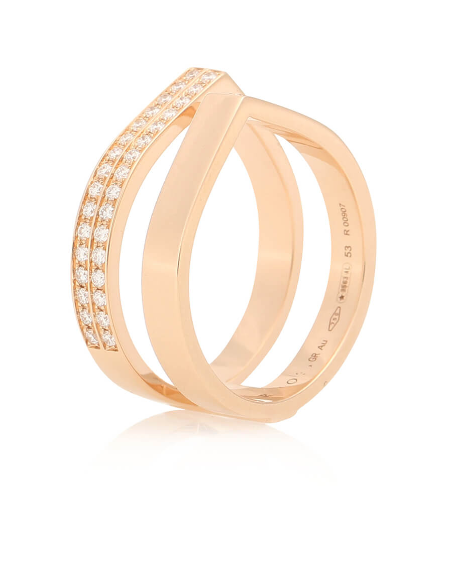 REPOSSI Antifer 18kt rose gold and diamond ring