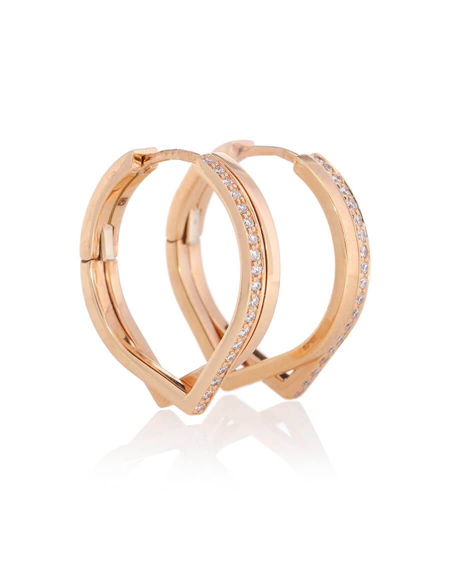 REPOSSI Antifer pink gold and diamond earrings