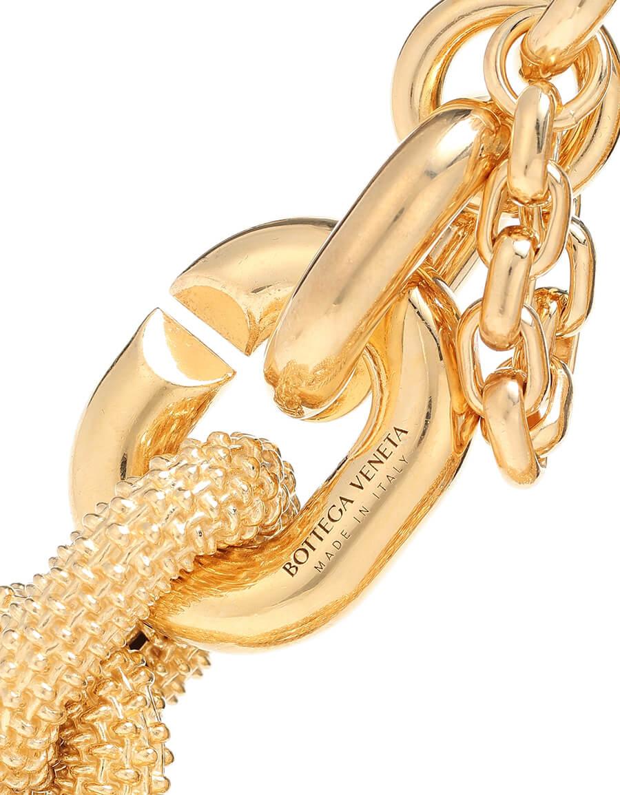 BOTTEGA VENETA 18kt gold plated chain necklace
