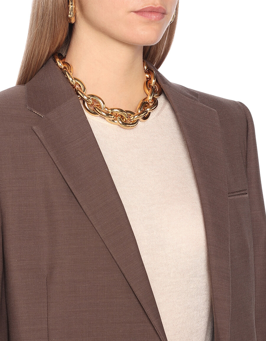 BOTTEGA VENETA 18kt gold plated necklace