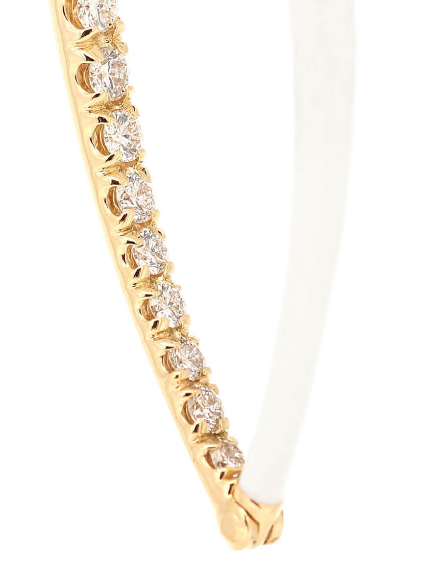 MELISSA KAYE Cristina Large 18kt gold hoop earrings with diamonds