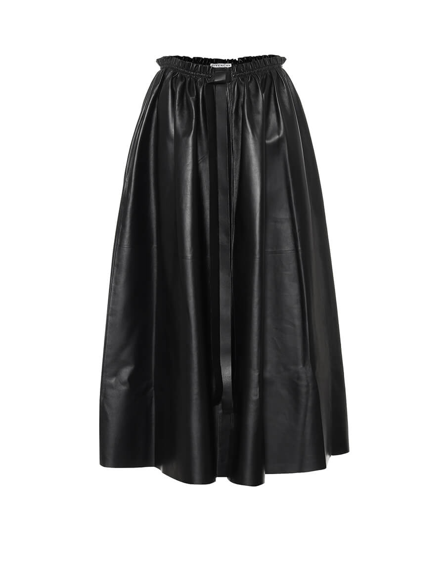 GIVENCHY Leather maxi skirt
