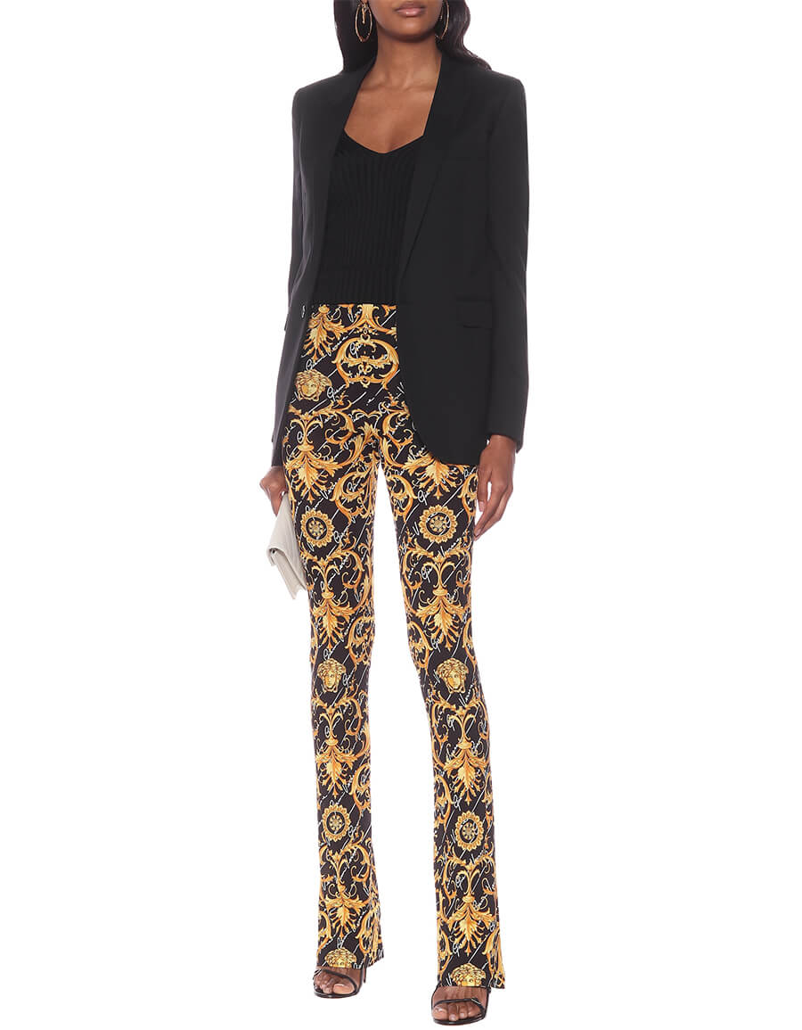 VERSACE Printed stretch jersey pants