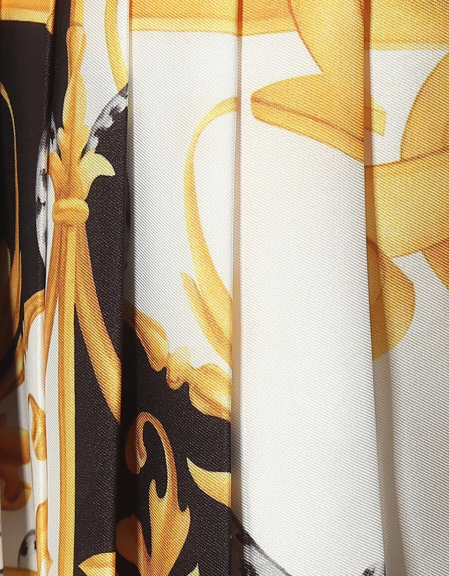 VERSACE Baroque print silk faille miniskirt