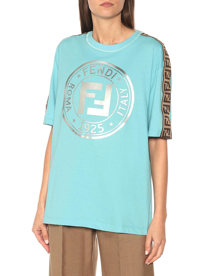 FENDI Logo cotton jersey T shirt