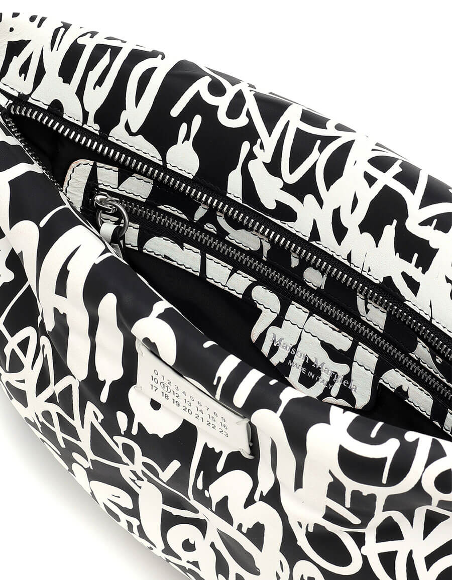 MAISON MARGIELA Printed leather clutch