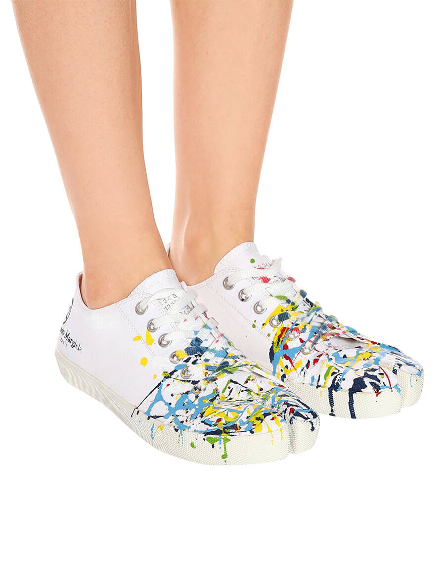MAISON MARGIELA Tabi canvas low top sneakers