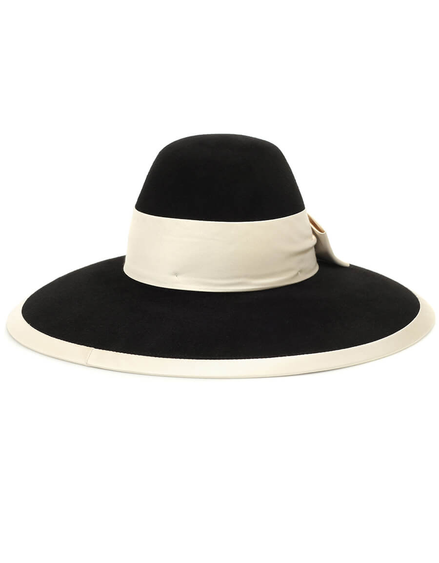 GUCCI Bow embellished felt hat