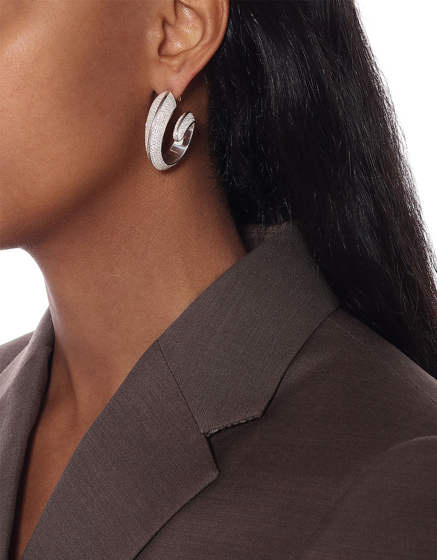 BOTTEGA VENETA Embellished hoop earrings