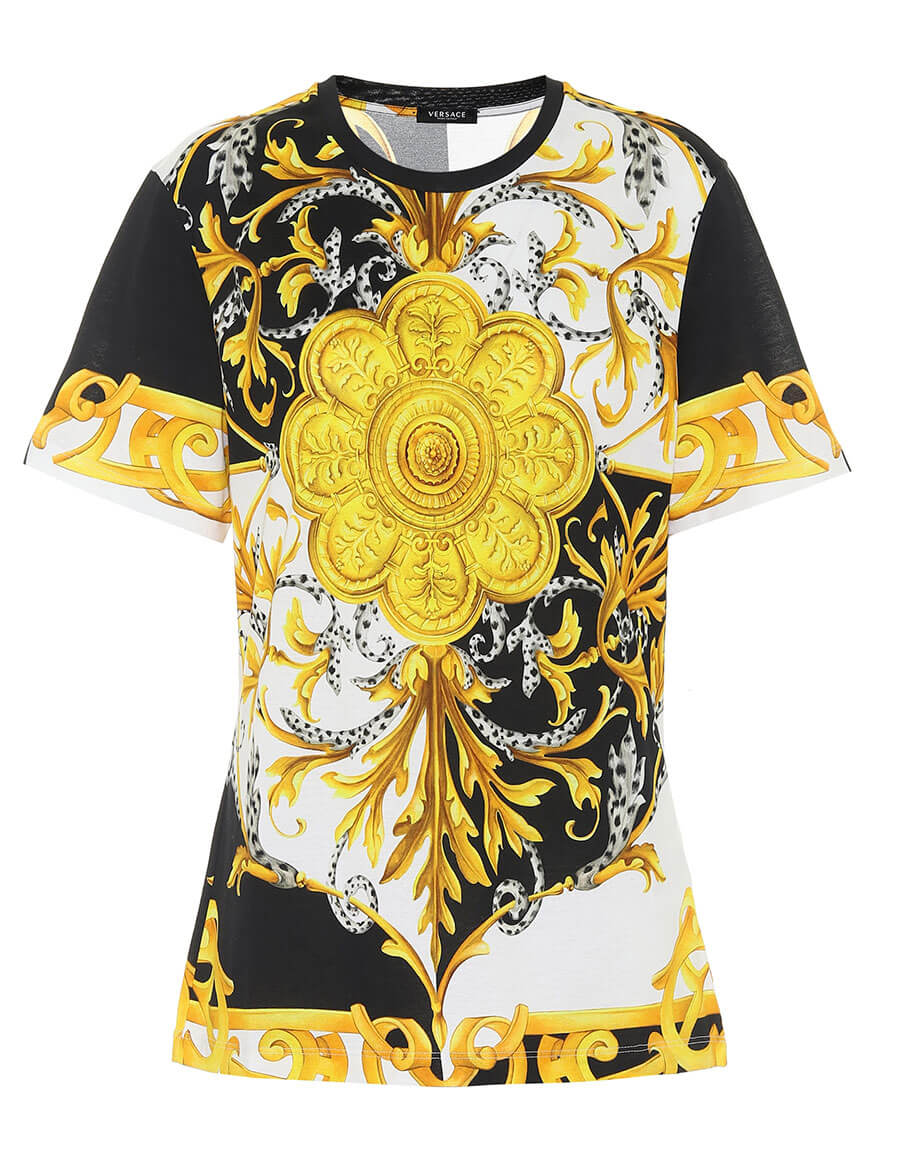 VERSACE Printed cotton T shirt