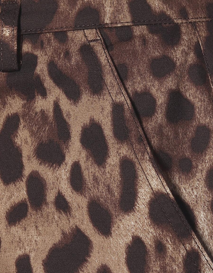 DOLCE & GABBANA Leopard stretch cotton shorts