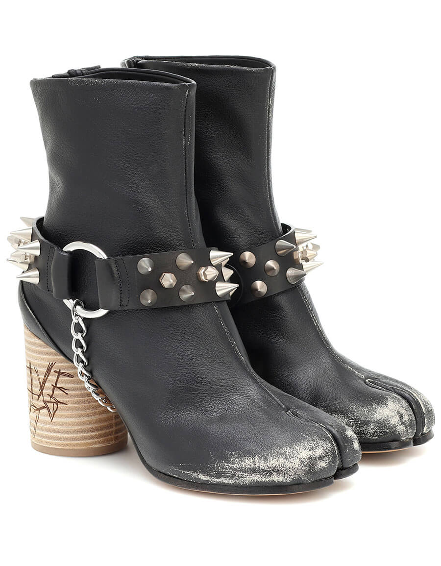 MAISON MARGIELA Tabi studded leather ankle boots