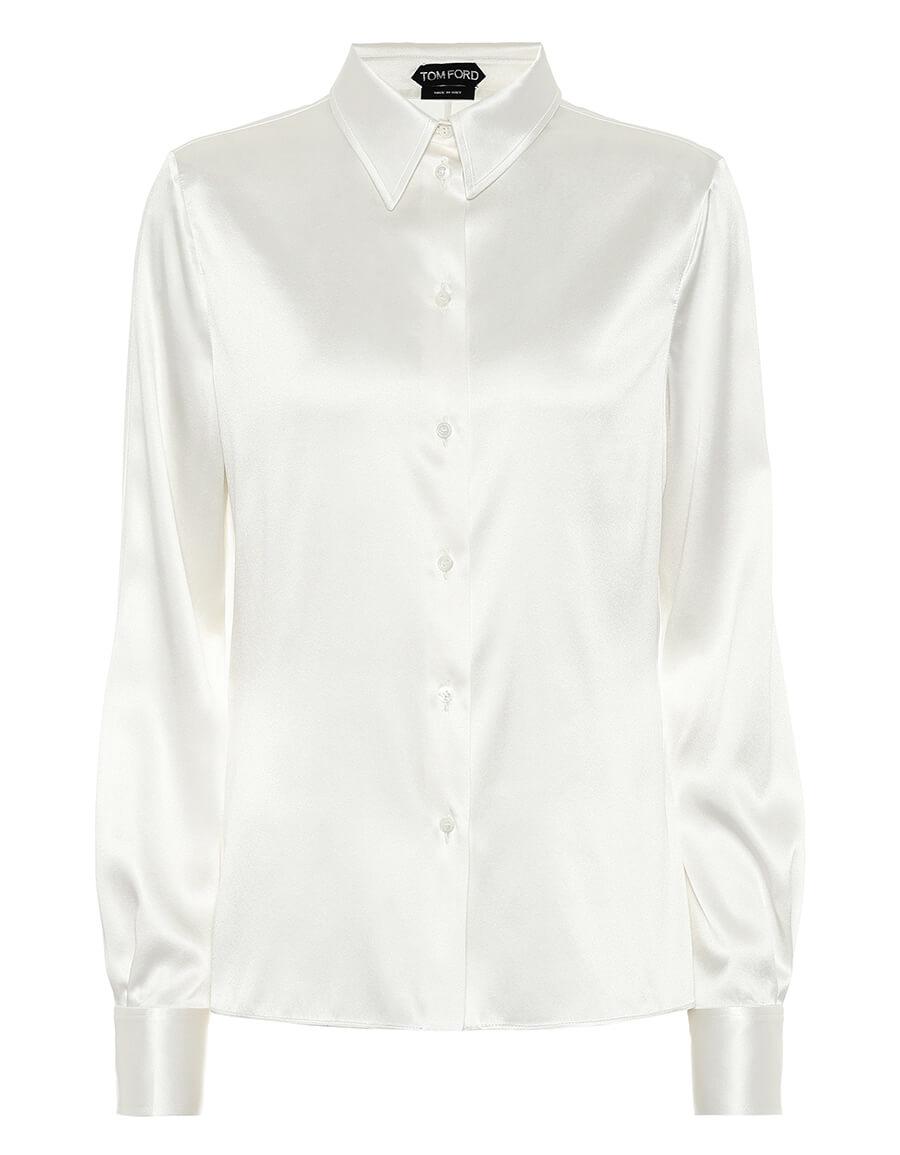 TOM FORD Stretch silk satin shirt