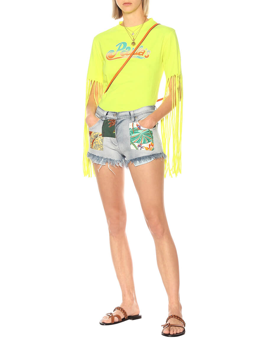 LOEWE Paula's Ibiza high rise denim shorts