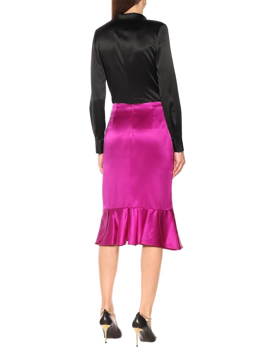 TOM FORD Silk satin midi skirt