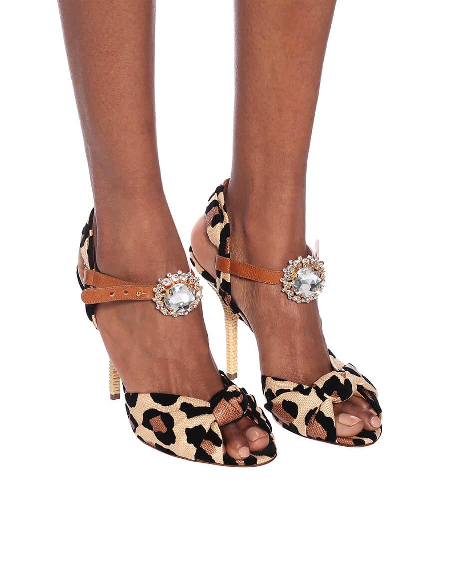 DOLCE & GABBANA Keira leopard print sandals