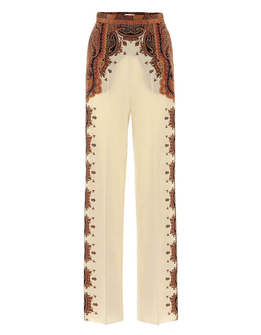 ETRO Wide leg printed silk pants